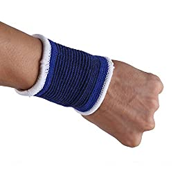 Gym,Exercise,Athletic,Weight Loss,Sports Wrist Support Blue Pack of 1 for Multipurpose Use