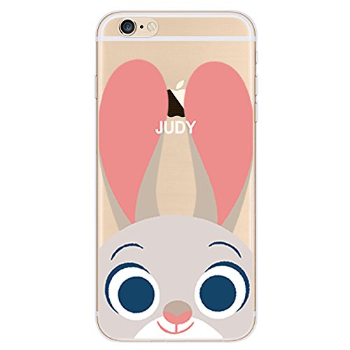 Disney ZOOTOPIA Transparent TPU Soft case for Apple Iphone 5/5S/5SE & 6/6S (APPLE IPHONE 6/6S, JUDY)