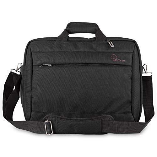 E-Tree 17.3 Zoll Laptoptasche Aktentaschen Handtasche Tragetasche Schulter Tasche Notebooktasche Laptop Sleeve Laptop hülle für bis zu 17-17.3 Zoll Laptop Dell Alienware/MacBook / Lenovo/HP,Schwarz