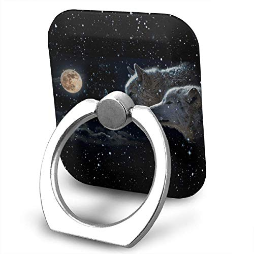 beautiful& Two Galaxy Wolf Cell Phone Ring Holder, Finger Grip Stand Holder,360 Degrees Rotation,Compatible with iPhone,Samsung,Phone Case,etc