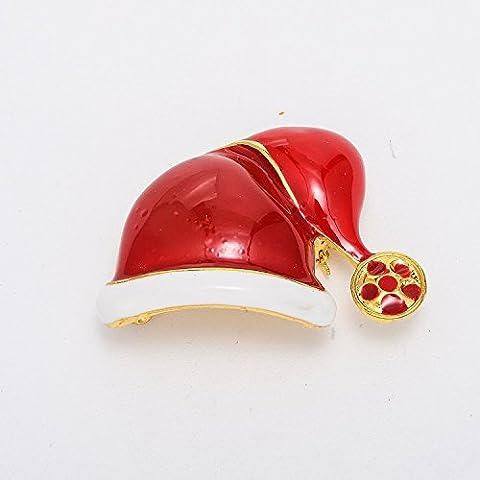 Kingstons Cappello da Babbo Natale Natale Decorazione Natale Spilla Pin