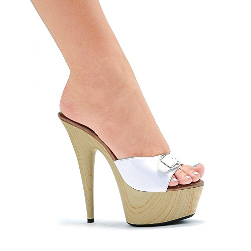 Ellie Shoes - Mules à sangles Barbara Blanc (WHT)