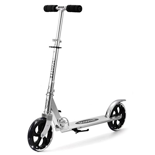 mymotto mymotto Scooter Cityroller Tretroller Roller City Scooter Erwachsene Kinder 205 mm Wheel, Outdoor und Sport, Silbrig