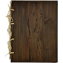 Weinkarte Speisekarte aus Holz schraubbar Auswechseln der Innengestaltung neutral