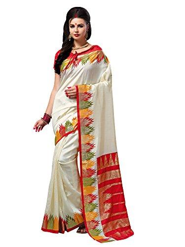 SAREE MALL Patola Silk Saree With Blouse Piece(saree combo offers for women...