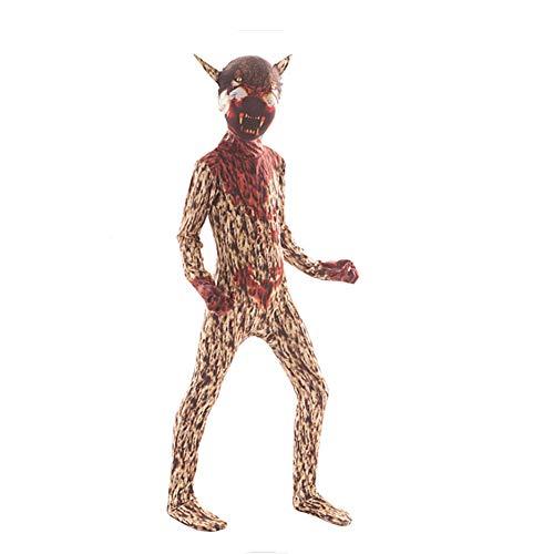 Männer Kostüm Werwolf - Proumhang Halloween Kostüm Horror Anzug Kostüm Mutant Mann und Clown Cosplay-Werwolf, M