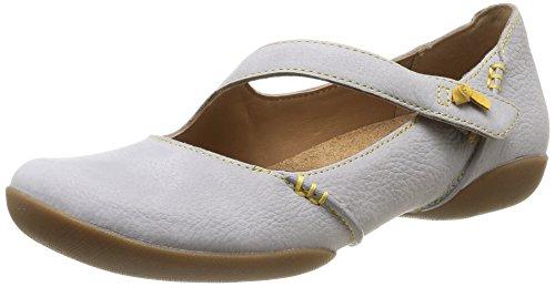 Clarks Felicia Plum, Chaussures de ville femme Bleu (Stone Nubuck)