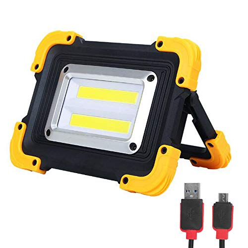 FISHNU Nylontasche Wiederaufladbares LED-Arbeitslicht, 1800 lm LED-Flutlicht, Eingebaute Lithium-Batterien mit USB-Anschluss zum Aufladen Mobiler Geräte -