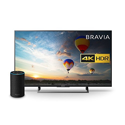 Sony Bravia KD43XE8004 43 inch TV, Black with All New Echo (2nd Generation), Charcoal Fabric Bundle