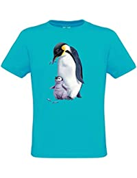 Penguins T-shirt pour filles et garcons - Pingouins Shirt Ethno Designs animaux sauvages pour enfants