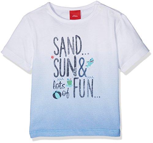 s.Oliver Baby-Jungen T-Shirt Kurzarm, Weiß (White 0100), 68