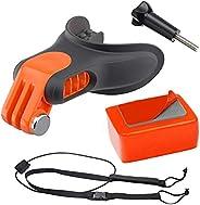 Roexboz Set di staffe per la bocca, per fotocamera sportiva. Collegate al kit di allenamento del surf per GoPr