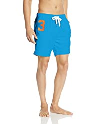 Superdry Mens Synthetic Shorts (5054265324284_M30MP003_XX-Large_Hawaii Blue)