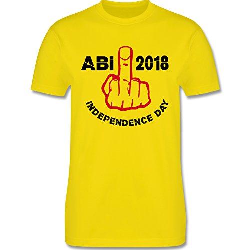 Abi & Abschluss - Independence Day - Abi 2018 - S - Lemon Gelb - L190 - Herren T-Shirt Rundhals (Independence T-shirts Day)