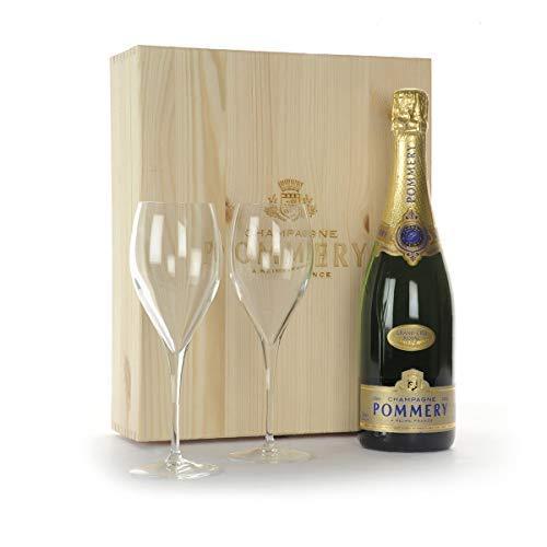 Brindisi Esclusivo con Champagne Pommery - Lussuoso Regalo per Lui e per Lei - cod V218