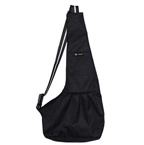 Sannysis equipamiento para perros, mochila de Viaje para Mascotas (Negro, S)