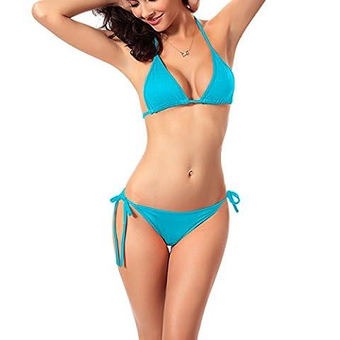 Paciffico Femme Sexy à bretelles Triangle 2pcs Bikini Bain Convient