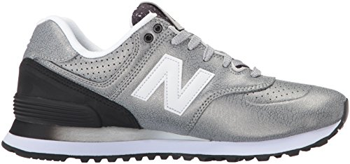 New Balance Damen 574 Laufschuhe Silber (Silver/black)