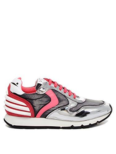 Voile Blanche Sneaker femme Julia Power Argent Argento/Fuchsia