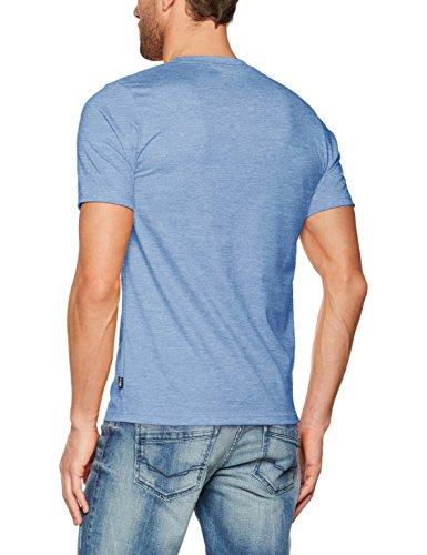 Trigema Damen T-Shirt Deluxe Baumwolle Blau (Royal-Melange 249)