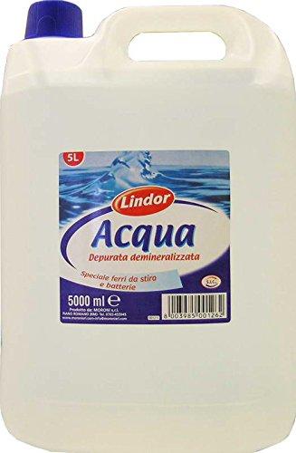 4 x lindor acqua demineralizzata 5 lt. 5000 ml