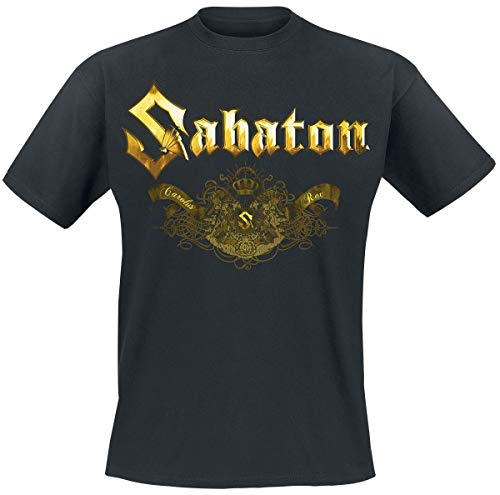 Sabaton Carolus Rex Platin T-Shirt schwarz 5XL Platin-musik