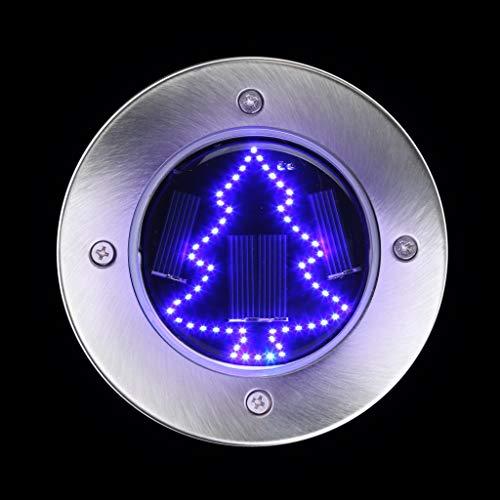 TianranRT Solar LED Outdoor Weg Licht Spot Lampe Hof Garten Rasen Landschaft Wasserdicht (Blau)