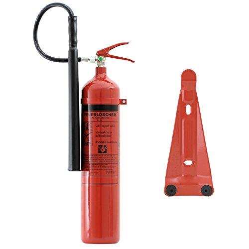 Preisvergleich Produktbild Feuerlöscher 5 kg CO² Kohlendioxid | EDV geeignet | DIN EN 3 + ANDRIS® Prüfnachweis mit Jahresmarke inkl. ISO-Symbolschild & GRATIS Textschild ,,Für EDV'