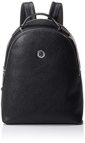 Tommy Hilfiger Damen Th Core Mini Backpack Umhängetasche, Schwarz (Black), 28x22.9x10.2cm