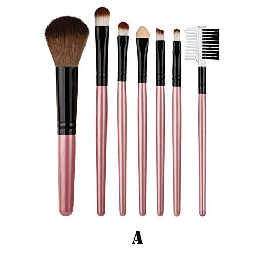 WWSITHY Mode Artikel 7 Stücke Holz Make-Up Pinsel Lidschatten Pinsel Kosmetik Blending Pinsel Werkzeug