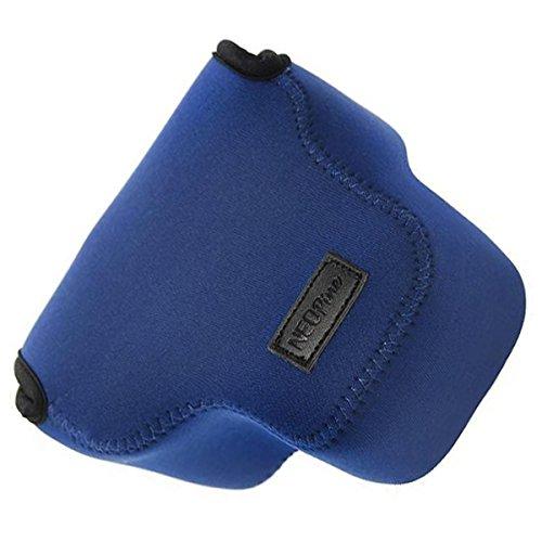 First2savvv QSL-RX10A-03 blau Neopren DSLR/SLR Kameratasche für Sony Cyber SHOT DSC HX300 H300
