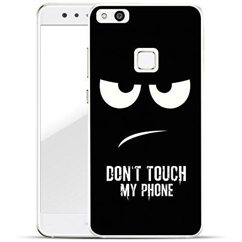 finoo | Huawei P10 Lite Hard Case Handy-Hülle mit Motiv | dünne stoßfeste Schutz-Cover Tasche in Premium Qualität | Premium Case für Dein Smartphone| Don't touch my phone
