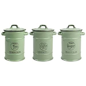 Green Kitchen Canisters Uk