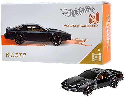 Hot Wheels iD FXB40 - Die-Cast Fahrzeug 1:64 Knight Rider K.I.T.T. mit NFC-Chip zum Scannen in der Hot Wheels iD App, Auto Spielzeug ab 8 Jahren