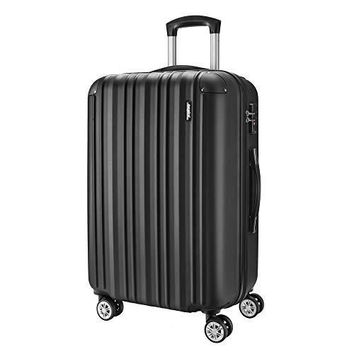 Amasava Maletas de Viaje,Maleta Rígida,Maleta Mediano,Cerradura TSA,65cm,67L,4 Ruedas multidireccional,Negro