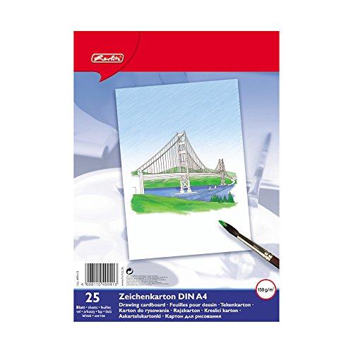Herlitz 499418 Zeichenkarton A4, 25 Blatt