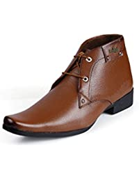 Red Rose Men's Tan Leather Formal Shoes For MEN @ Discount And Offers On Pure Leather Shoes (DD)
