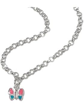 SilberDream Schmetterling Kette für Kinder Halskette Kinderschmuck aus 925 Sterling Silber SDK01438