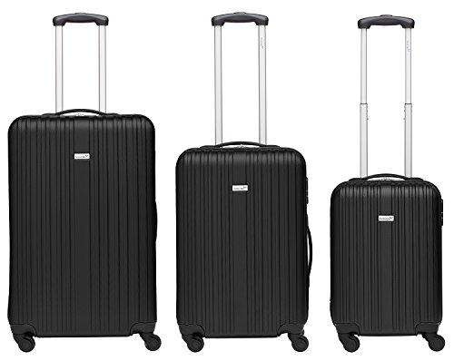 Packenger Line Koffer, Trolley, Hartschale  3er-Set in Schwarz, Größe M, L und XL