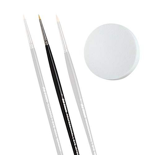 Da Vinci Eyeliner-Pinsel vegan professional Gr. 1 / Pinsel für Eyeliner Gel / Gel Eyeliner pinsel -...