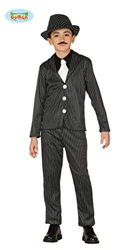 Guirca Gangster Mafia Anzug für Jungen Gr. 110-146, Größe:128/134