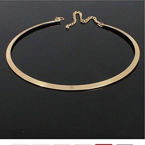 Collane Con Colletto In Metallo Liscio Per Donna Girocollo Con Collane Punk Girocollo In Oro Giallo Geometrico