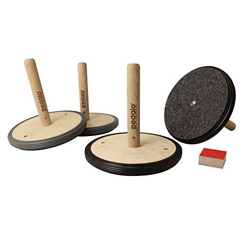 Pedalo® Curling Straße oder Halle aus Holz I Indoor & Outdoor Curling I Familienspiel I Spieleabend (Halle)