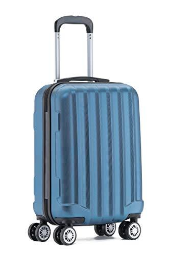 BEIBYE TSA-Schloß 2080 Hangepäck Zwillingsrollen neu Reisekoffer Koffer Trolley Hartschale Set-XL-L-M(Boardcase) (Blau, M)