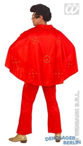 Elvis Kostüm rot mit gelben Juwelen Größe (Juwel Kostüme)