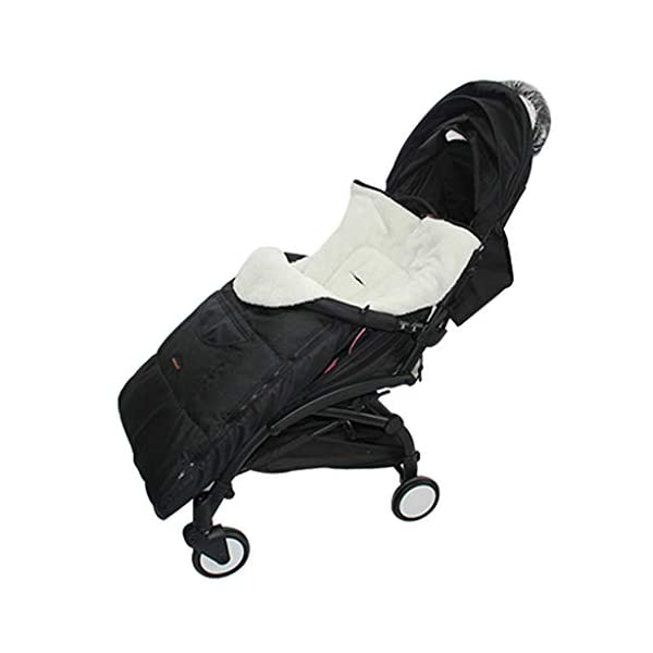 DENGHENG Baby Sleeping Bag Infant Winter Stroller Thick Warm Envelope Sleepsacks Footmuff DENGHENG ❤ Stroller Sleep Bag, Softly padded with warm fleece lining and extra quilting. ❤ 2 in 1 - Removable front unzips, easily converting to a comfy Seat liner ❤ Can Also be used as a Padded Pushchair or Buggy Liner- ideal for the summer months 6