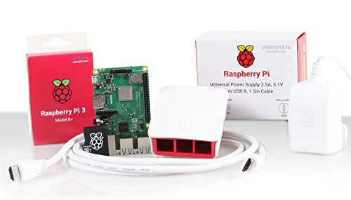 Almost Anything Ltd Raspberry Pi 3 Modelo B + Kit de inicio oficial (16Gb,...
