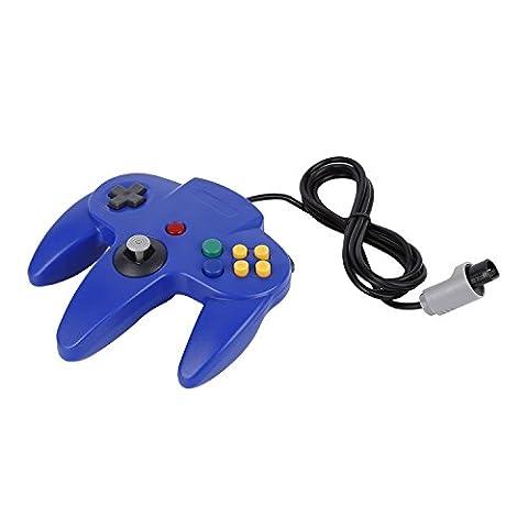 YKS Jeu Contrôleur Joystick pour Nintendo 64N64Système bleu