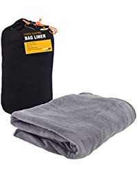 Milestone Camping Fleece Sleeping Bag Liner - Black