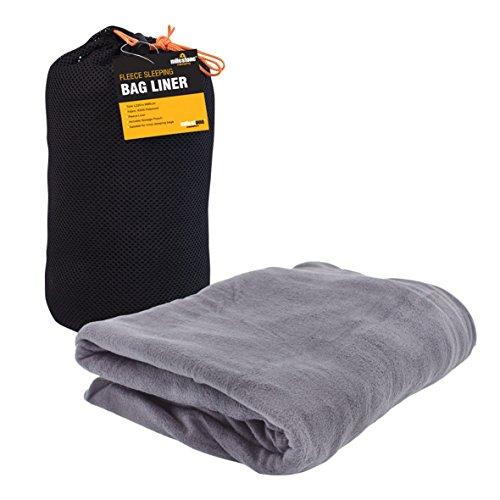 Milestone Camping Fleece-Schlafsackeinsatz - Schwarz